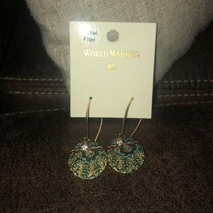 World Market Green Earrings